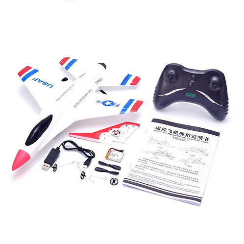 RC MODEL AIRCRAFT THUNDERBIRDS FX-823 2.4G 2CH REMOTE CONTROL F-16 GLIDER WINGSP