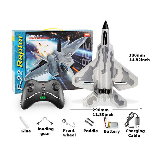 FX822 F-22 RAPTOR RC MODEL FIGHTER AIRPLANE REMOTE CONTROL AIRPLANE FIXED-WING M