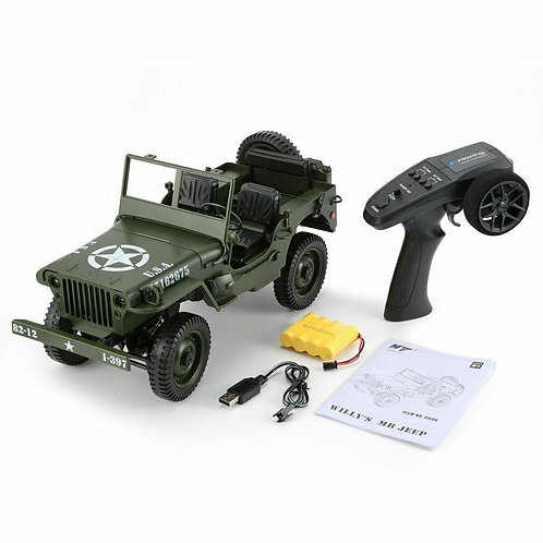 C606 1:10 RC CAR 2.4G REMOTE CONTROL JEEP FOUR-WHEEL MILITARY CLIMBING CAR