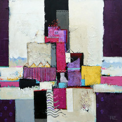 deep purple   80 x 80 cm.  2014