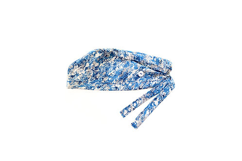 Blue Splatter Scrub Cap