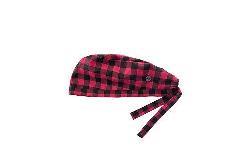 Flannel Scrub Cap