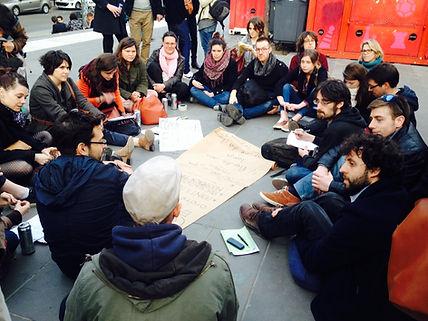 Nuit debout commission éducation Paris