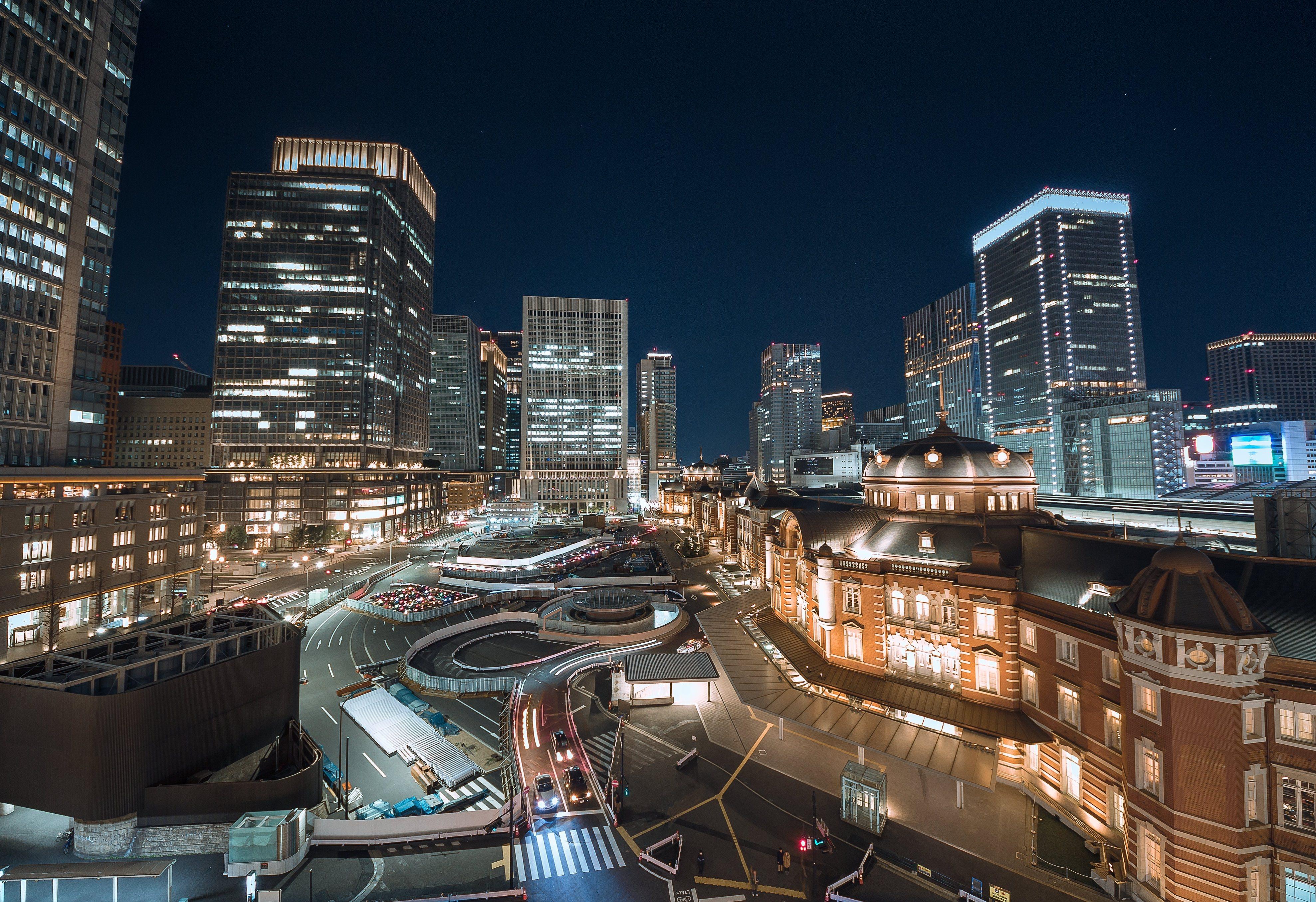 丸の内の夜景【JY01 東京駅】