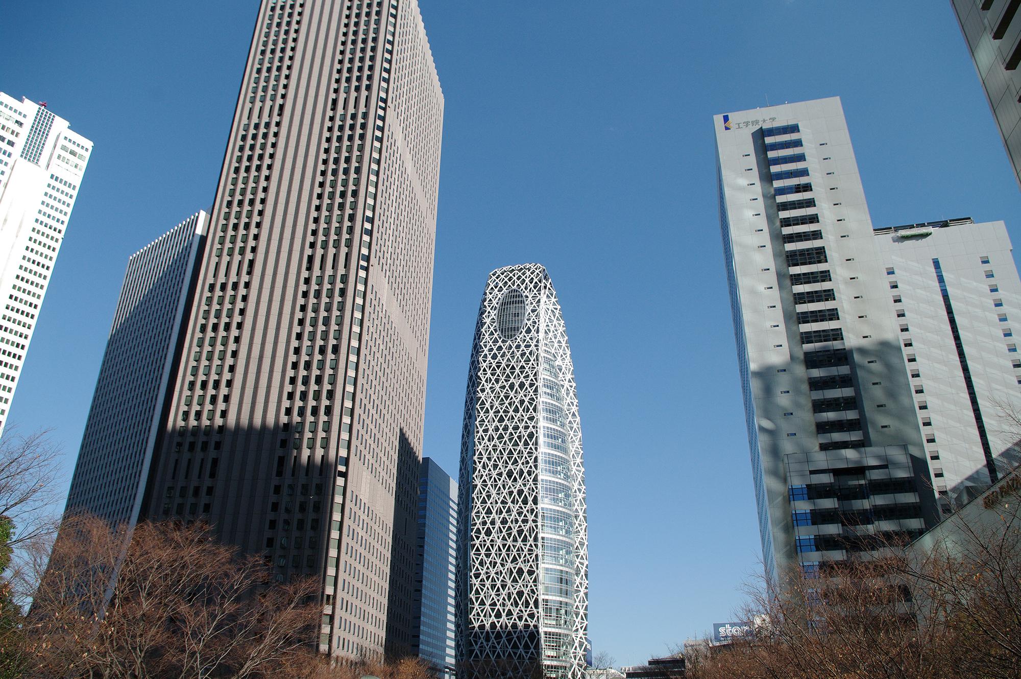新宿の高層ビル群【JY17 新宿駅】
