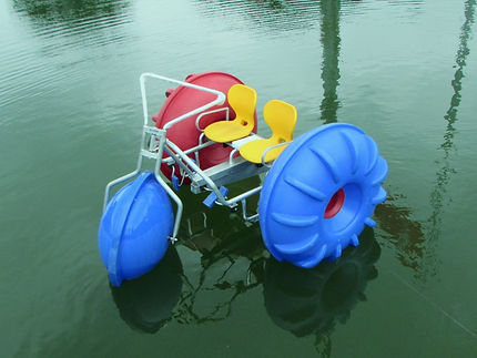 AQUAFUNNY, aqua cycle unlimited fun with water tricycle. Lake and beach pedalo