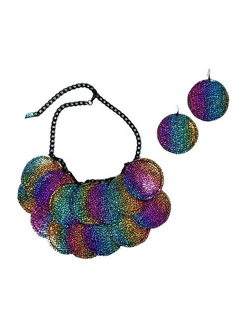 Eclipse Circle Necklace Set