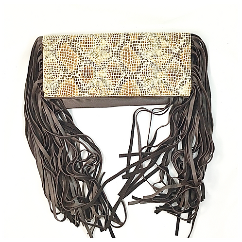 Convertible Crossbody Fringe Leather Bag
