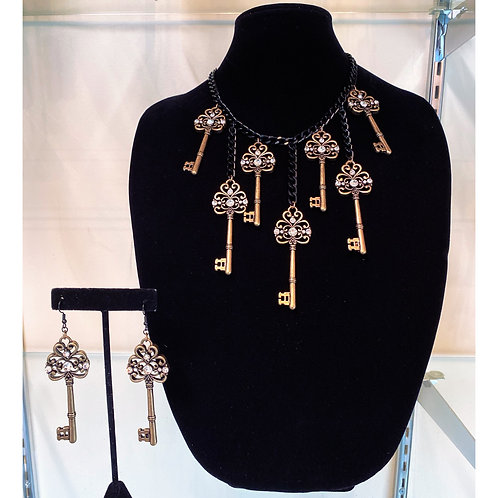 Keys to my Heart Necklace Set