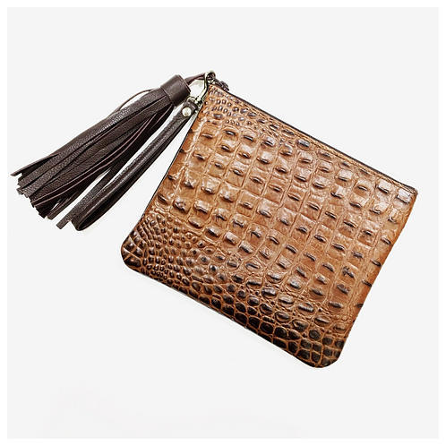 Tassel Leather Wristlet