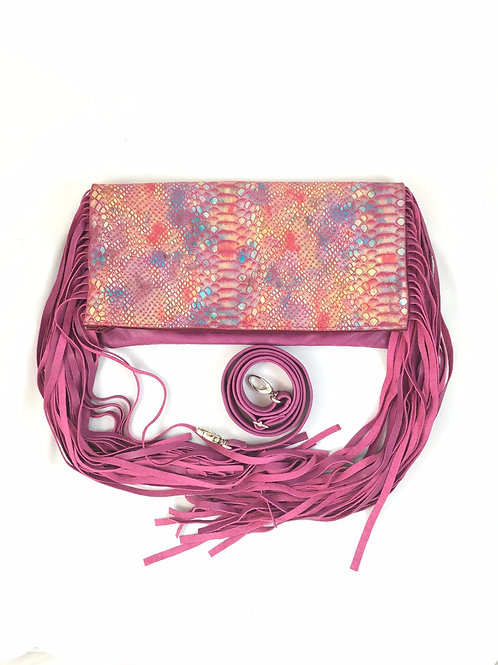 Convertible Crossbody Fringe Leather Bag