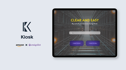 UI Design Project- AmazonXCraigslist Kiosk