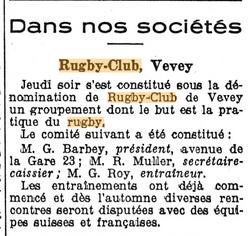 Feuille d'avis de Vevey 14 Avril 1939