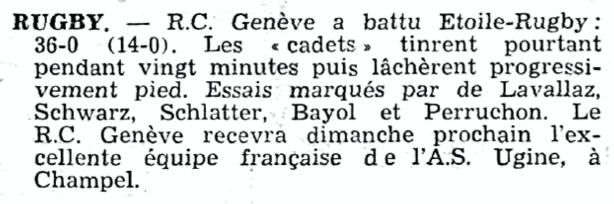 Journal de Genève 10 Décembre 1959