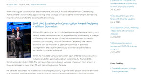 2017 U40 Excellence in Construction Award Recipient