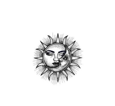 TATTOO Moon&Sun design💉🌹 DM for orders