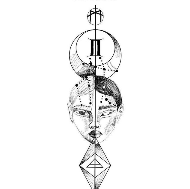 Zodiac design_GEMINI_._._DM_._#geminis #