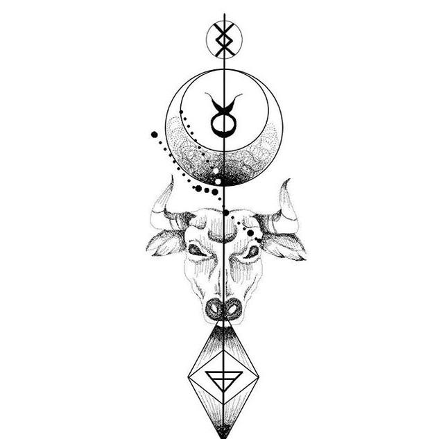 Zodiac design💉🌹✨_TAURO_._._DM_._#tatto