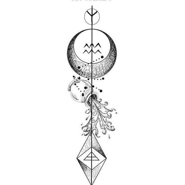Zodiac design 💉🌹_ACUARIO_._._DM PARA E