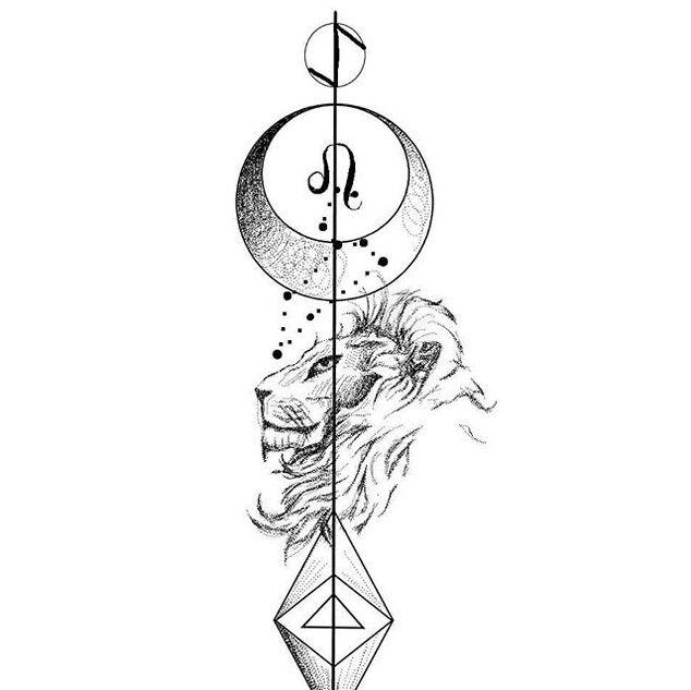 Zodiac design🖤🌹_LEO_._ETIQUETA A UN LE