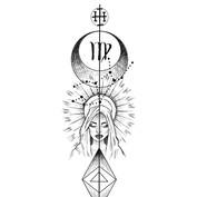 Zodiac design _VIRGO ._Etiqueta a un Vir