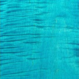 Turquoise Blue Transparent Satin Maple
