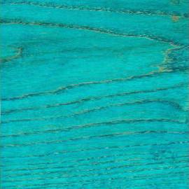 Turquoise Blue Transparent Satin Ash