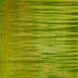 Bleached Emeraude Green Transparant Satin