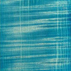 Bleached Ocean Blue Transparent Satin