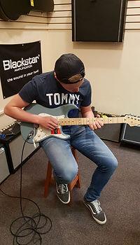 Brent Wubben leerling van The Guitar Master