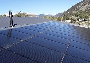 producción de electricidad y térmica, panel híbrido