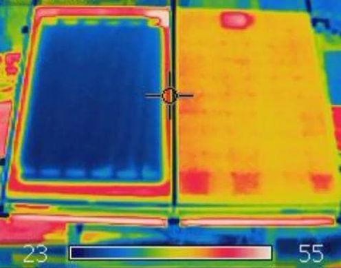 células fotovoltaicas, enfriamiento