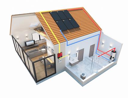Agua caliente solar, sistema de calefacción