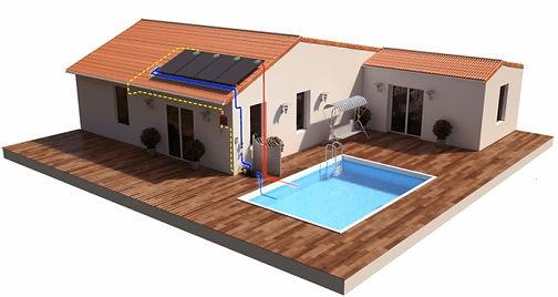 Piscina de energía autónoma, energía verde
