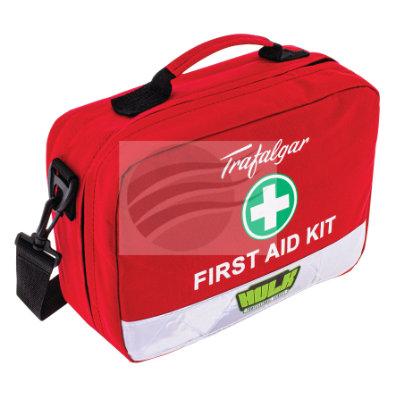 WORKPLACE FIRST AID KIT WP1 SOFT RED DURABLE CASE Per car quantity: 1