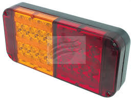 LED STOP/TAIL/INDICATOR LAMP 10-30V W/REFLECTOR BLK HOUSING