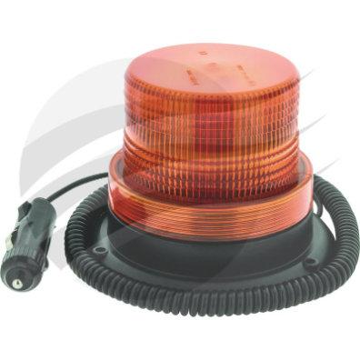 LED AMBER ROTATING BEACON 12-80V MAGNETIC BASE MOUNT W/