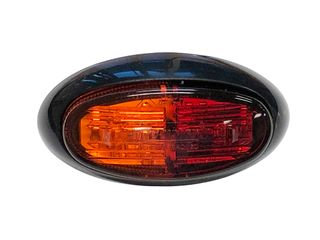 Side Marker Lamp 12V-24V (red-amber lens & LED)