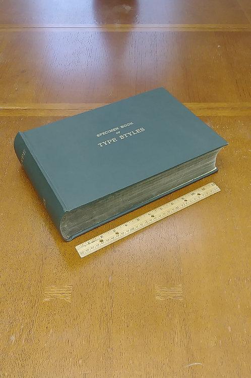 Specimen Book of Type Styles 1915 Mergenthaler Linotype Company