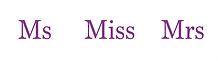 MsMissMrs logo