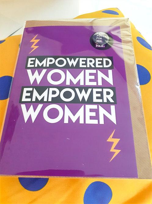 Empowered women Empower women card
