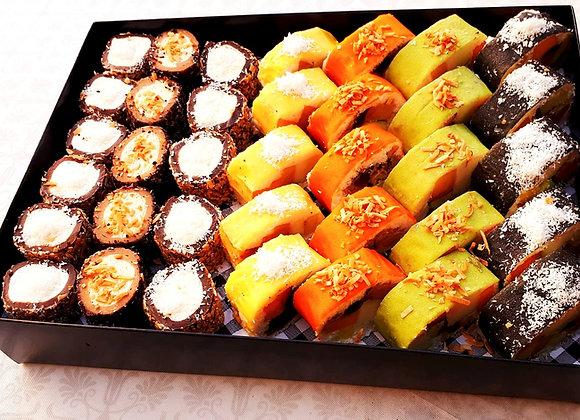 36 יח' סושי פירות ושוקולד במארז יוקרתי