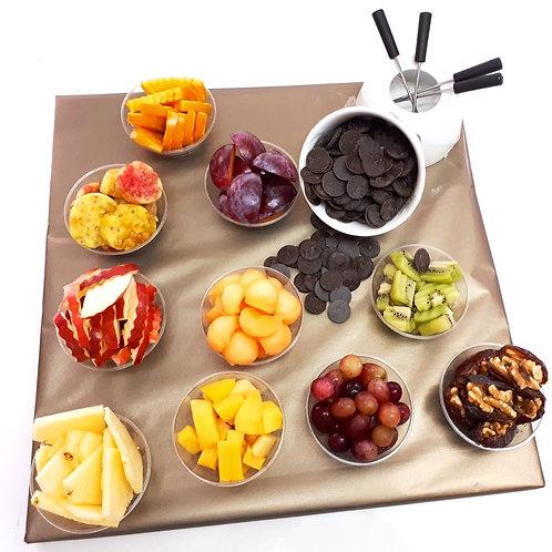 סלסלת פירות ושוקולד - פונדו