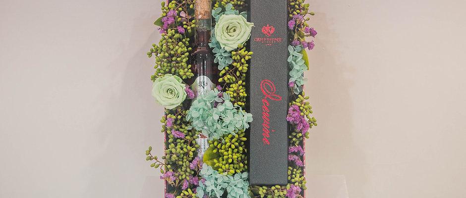 加拿大冰酒年節花藝禮盒