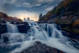 Cascade waterfall under mt. Fitzroy