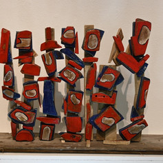 Clare Iles, In response to Peter Coker French Red and Blue