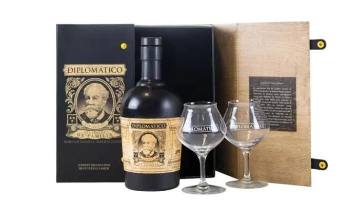 Coffret Diplomatico avec verres