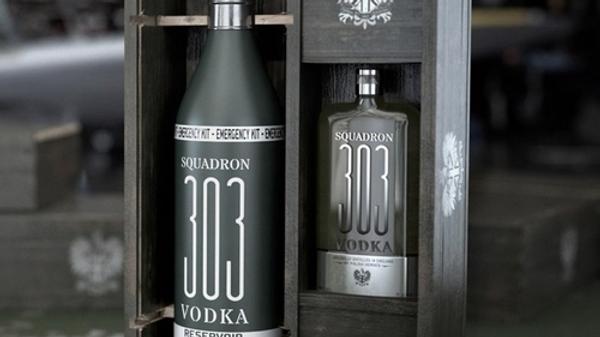 Coffret flasque Vodka Squadron 303 40%
