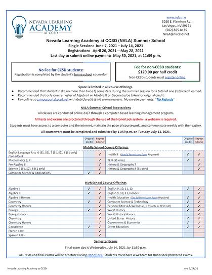 Nevada Learning Academy Summer School Fl