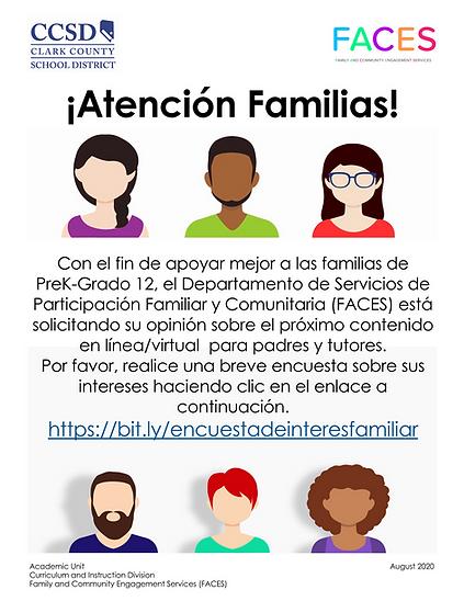 Interest Survey- Flyer for Families v3_P